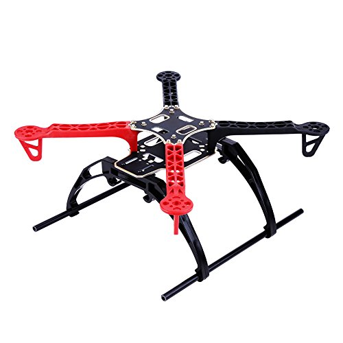 Kit Telaio Drone RC, Kit Telaio Drone in Fibra di Vetro con Struttura a X per Droni a 4 Assi