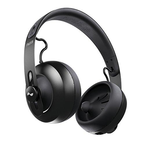 nuraphone - Cuffie sovrauricolari Bluetooth wireless con auricolari, audio personalizzato, cancellazione attiva del rumore (ANC), modalità social, pulsanti a tocco multiplo