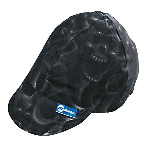 Miller Genuine Arc Armor Ghost Skulls Welding Cap 7-3/8' -...