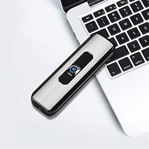 NL USB Recargable Encendedor de Cigarrillos con el Interruptor del Tacto, de la Huella Digital a Prueba de Viento del Cigarrillo sin Llama Fumadores Ligeros Ultra-Delgado Encendedor