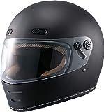 マルシン(MARUSHIN) バイクヘルメット ネオレトロ フルフェイス END MILL (エンド ミル) マットブラック Mサイズ (57-58cm) MNF1 2001324