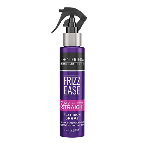 John Frieda Frizz Ease 3-day Flat Iron Spray, 3.5 Ounce Heat-activated Straightening Spray, to Block Out Frizz, with Keratin Protein