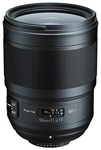 【Amazon.co.jp限定】 Tokina 標準単焦点レンズ Opera 50mm F1.4 FF クリーニングクロスセット ニコン F用 フルサイズ対応 ブラック 012604