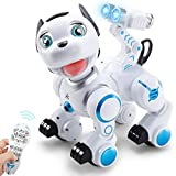 SGILE Robot Dog ,RC Dog Toy Interactive Intelligent Walk Sing Dance Programmable Robot Gift for Kids