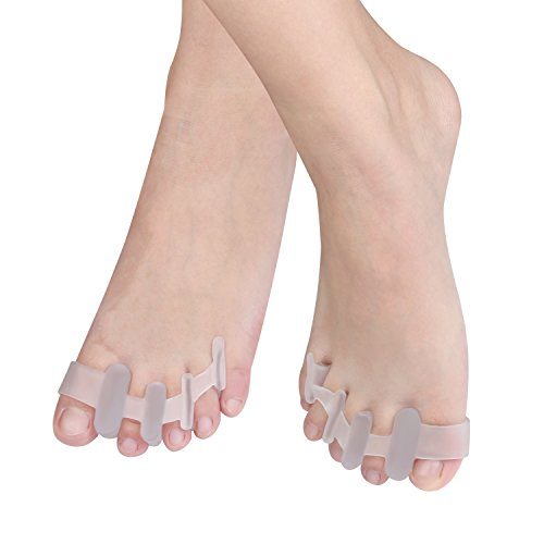 QGSTAR Gel Toe Separator by Toe correctors Stretcher for Bunion Pain Relief,Toe Straighteners Spreader for Sports Activities, Doing Yoga, Runner, One Size Fits Men and Ladies(1 pair)