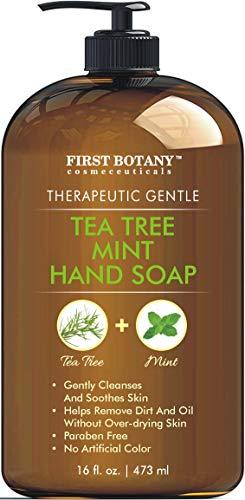 Tea Tree Mint Hand Soap - Liquid Hand Soap with Peppermint,...