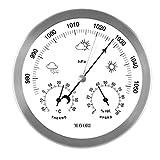 MAVORI®Station météo analogique pour l'intérieur et l'extérieur avec Cadre en...