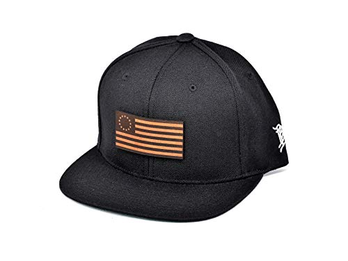 Branded-Bills-1776-Leather-Patch-Classic-Snapback-Hat-One-Size-Fits-All