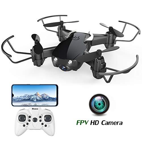 EACHINE E61HW Drone con Telecamera HD WiFi FPV Mini Droni per Principianti Funzione di Sospensione...