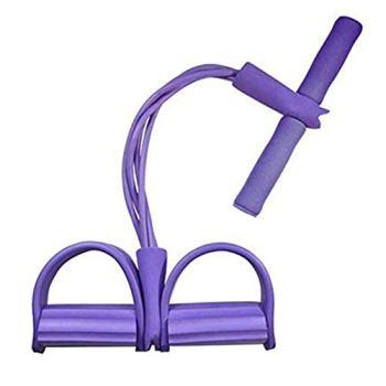 Ideal Swan [50cm] Multifonction Bande Élastique Corde de Tension Multifonctionnelle Fitness Résistance Sit-Up pour Jambes, Yoga, Fitness, Pédale de Traction pour Pieds Assis et Musculation - Violet
