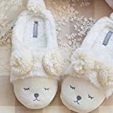 MDCGL Ouvert Accueil Chaussures,Pantoufles en Coton à la Maison intérieure...