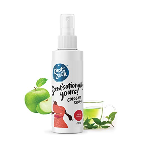Captain Zack - Scent'sationally Yours Dog & Cat Cologne, Controls Odor and Keeps Coat Smelling Fresh. Daily Use Natural pH-Neutral Spray, Apple and Green Tea - 100 ml