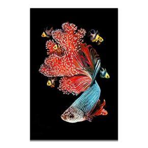 Puzzle 1000 Piezas Colorido pez Dorado koi/Rompecabezas de descompresión para Adultos de Madera de Regalo de Juguetes…