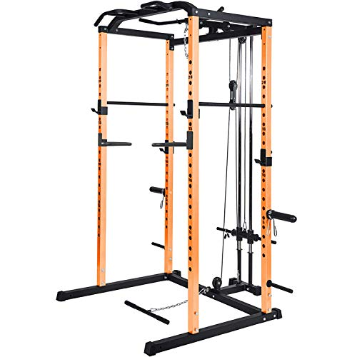 Vanswe Power Rack Power Cage 1000-Pound Capacity Home Gym Equipment...