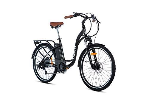 Moma Bikes Bicicleta Electrica E26.2 Aluminio, SHIMANO 7V, Frenos de...