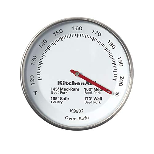 KitchenAid Leave-in Meat Thermometer, TEMPERATURE RANGE: 120F to 200F, Black