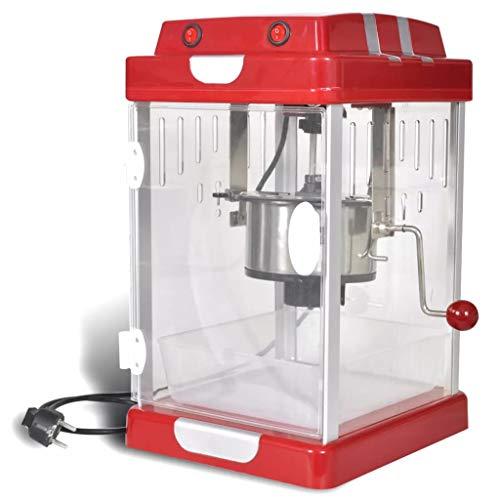vidaXL Popcorn Maschine Retro Design Kino 310W Popcornmaker Popcornautomat