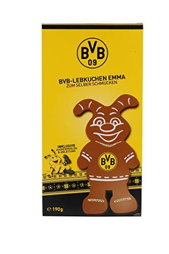 BVB Lebkuchen Emma zum Selber Schmücken | Fanartikel BVB | Borussia Dortmund | 190g