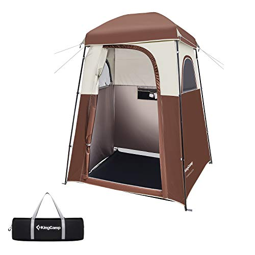 KingCamp Shower Tent Oversize Outdoor Shower Tents for Camping Dressing Room Portable Shelter Changing Room Shower Privacy Shelter Single/Double Shower Tent