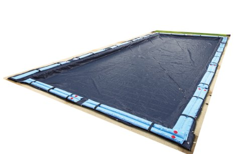Blue Wave BWC752 Bronze 8-Year 20-ft x 40-ft Rectangular In Ground Pool Winter Cover,Dark Navy Blue