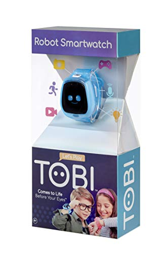 Image 2 - Little Tikes Montre connectée Robot Tobi pour les enfants, équipée d'une caméra digitale, d'une vidéo, de jeux & activités pour garçons et filles – Bleu. Dès 4 ans et +
