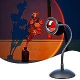 Sunset Lamp, Sunset Projection Lamp, Luz Nocturna USB LED, Lámpara de Pie Salón, Lámpara Decorativa, SE Puede Girar 360°, Adecuada para Dormitorio, Salón ,Fiesta Familiar
