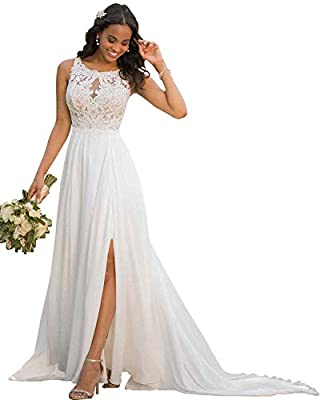 Features: scoop neck, lace applique,a-line,floor length,side slit, split, low back, built-in bra Size: In order to choose a correct size, please have a look of our size chart before ordering. Our size chart is included in the product images Occasions...