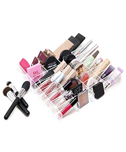 Smprivatelabel, Organizer trucchi per cassetti 100% acrilico, Porta make up ampia compatibilit cassettiere, Postazione toeletta trucco