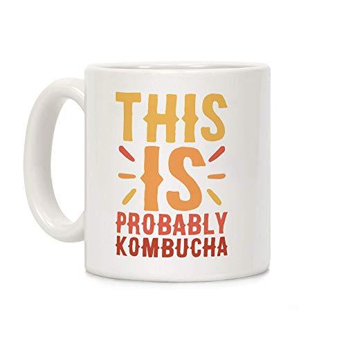 Esta es probablemente Kombucha White Taza de café de cerám