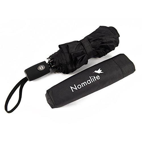 Parapluie de Poche incassable par Nomalite | Parapluie Noir Pliant...