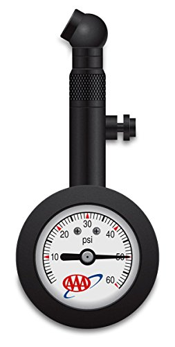 Lifeline 4357AAA Black AAA High Pressure Analog Tire Gauge