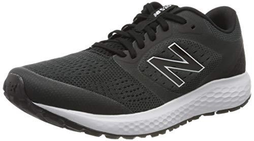 New Balance Men's 520v6 Road Running Shoe, Black (Black/White), 9.5 UK