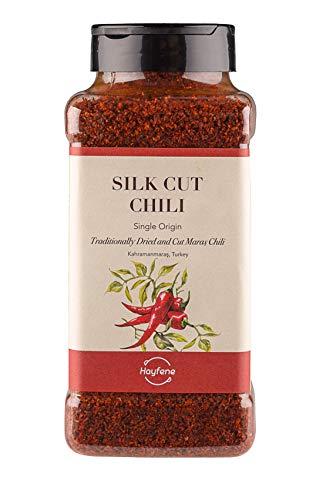 Chile Rojo - Copos de chile de Alepo (Maras) -- Silk Cut Chili I 450 gr I Naturalmente libre de conservantes, rellenos, sustancias artificiales I No irradiado