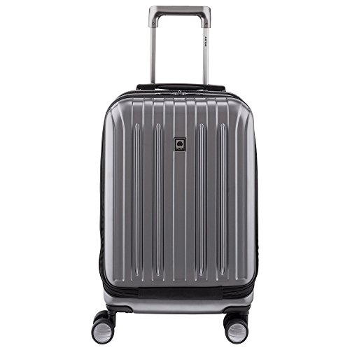 Delsey Luggage Helium Titanium International 19 Carry-on Expandable Spinner Trolley (One size, Carbon Grey)