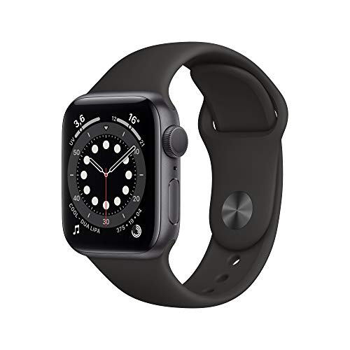 Apple Watch Series 6 (GPS, 40 mm) Caja de aluminio en gris espacial - Correa deportiva negra