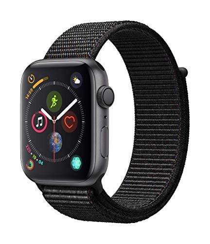 Apple Watch Series 4(GPSモデル)- 44mmスペースグレイアルミニウムケースとブラックスポーツループ