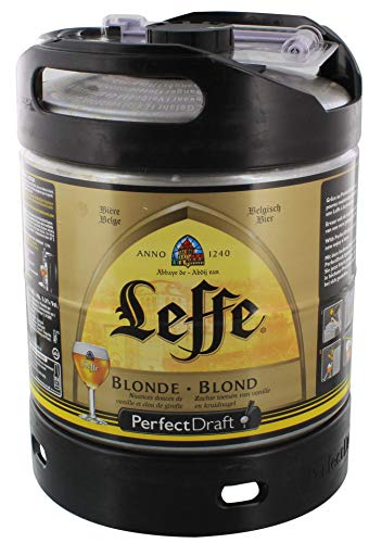 Leffe cerveza de Bélgica Perfect Draft 6 litros barril 6,6% vol.