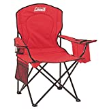 Coleman Portable Quad Camping Chair with Cooler , Red, 37' x 24' x 40.5'