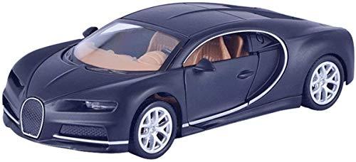 Voiture Alliage Simulation Voiture de Sport modèle décoration Voiture Tirez Cadeau de Voiture pour Enfants matériel sûr (Bleu) -BCVBFGCXVB (Noir Bugatti Noir)