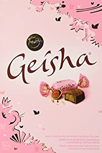 Fazer Geisha Milk Chocolates with Soft Hazelnut filling Small Box 5.3Oz (150g) Imported From Finland Makes a great gift Very Delicious! Share of Chocolate Filling - 38%
