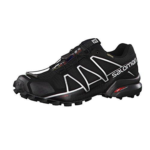 Salomon Speedcross 4 GTX, Zapatillas de Trail Running Hombre, Negro (Black/Black/Silver Metallic-X), 42 2/3 EU