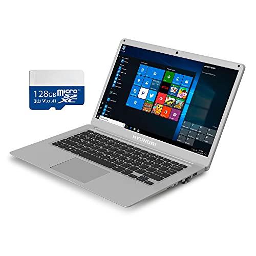 "Hyundai Laptop & 128GB MicroSD Card Bundle   Thinnote-A 14.1"" - Intel Celeron Laptop   4GB RAM,…"