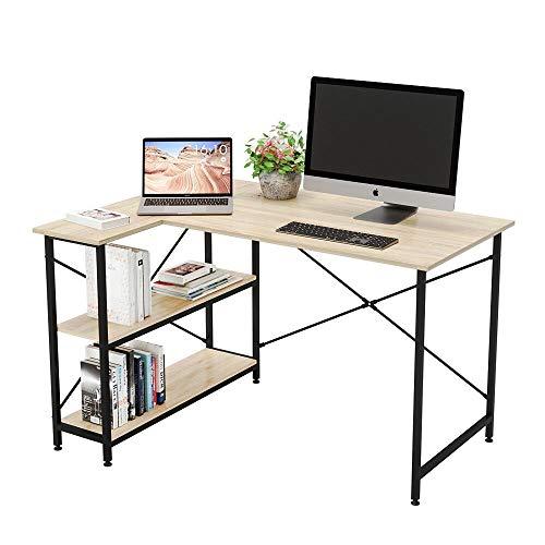 Bestier Computer Desk with Storage Shelves Under Desk, Small L-Shaped...
