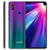 CUBOT MAX 2 Smartphone 4G LTE Dual SIM, Télephone Portable débloqué Écran FHD 6,8 Pouces (19:9) 5000mAh Batterie Android 9.0, 4Go-64Go (Extensible à 256Go) Double camera 16MP+2MP/ 8MP Identité faciale