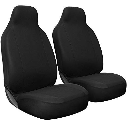 Motorup America High Back Black Auto Seat Cover - Fits Select Vehicles Car Truck Van SUV