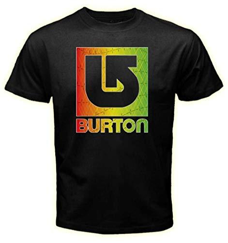 Burton Snowboard Rasta Color Logo T-Shirt Tee Men's Tshirt Size S M L XL 2XL 3XL L Black