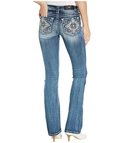 Miss Me - - Damen Mid Rise M3404B Chloe Boot Jeans, 27, Dark Blue