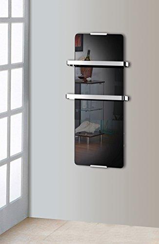 Radiateur sèche serviette noir 600W design