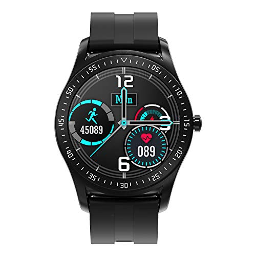 HopoFit Smart Watch for Men Women,Fitness Tracker Smartwatch for Android iOS Phones,1.3' Touch Screen IP68 Waterproof Sport Watch with Heart Rate,Sleep Monitor (Black)
