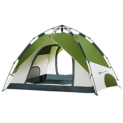 MOON LENCE Pop Up Tent Family Camping Tent 4 Person Tent Portable Instant Tent Automatic Tent Waterproof Windproof for Camping Hiking Mountaineering